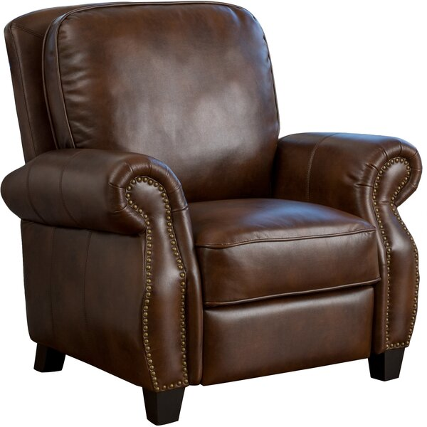 Bon Real Leather Recliner Chair | Wayfair