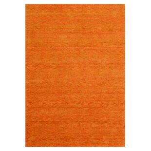Chardon Handwoven Orange Rug by Longweave