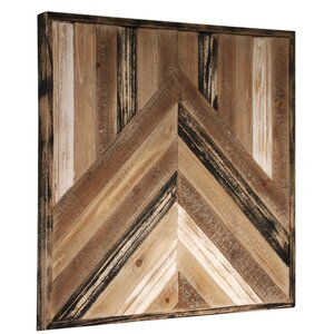 Brown/Beige Fir Wood Wall Du00e9cor