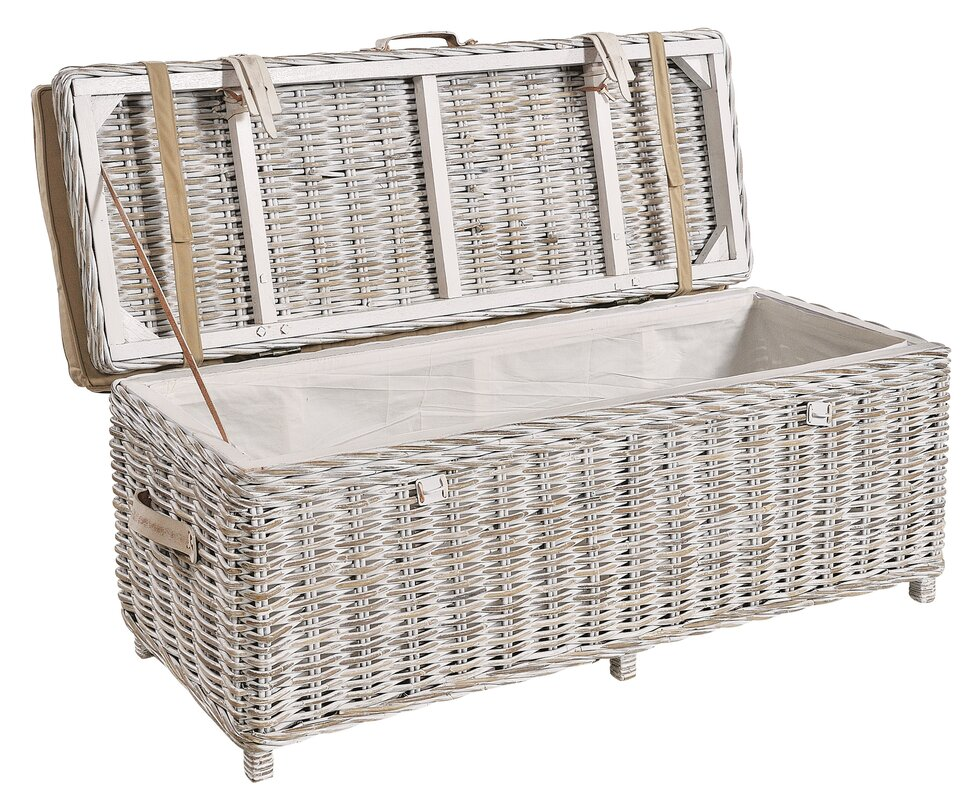 rosecliff heights sitzbank graham aus rattan mit stauraum bewertungen. Black Bedroom Furniture Sets. Home Design Ideas