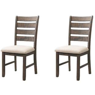 Ismay Ladder Back Side Upholstered Dining Chair (Set of 2)