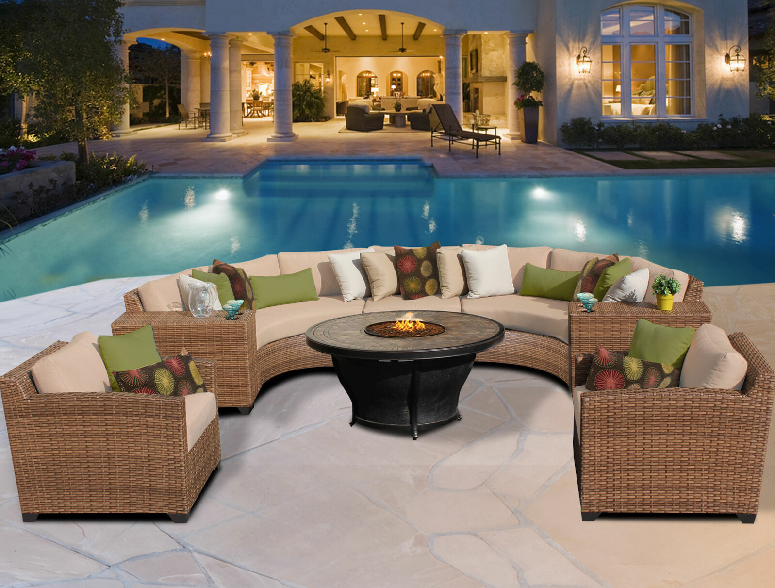 TK Classics Laguna 8 Piece Sectional Set with Cushions & Reviews