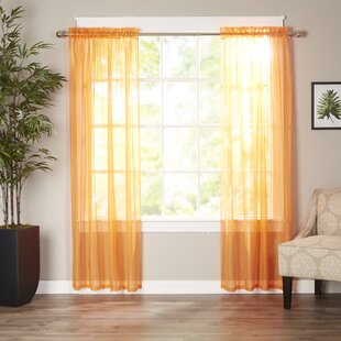 Solid Sheer Curtain Panels Set Of 2