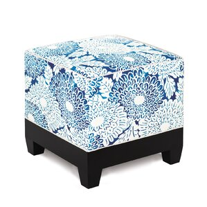 Indira Ink Cube Ottoman by Eastern Accents