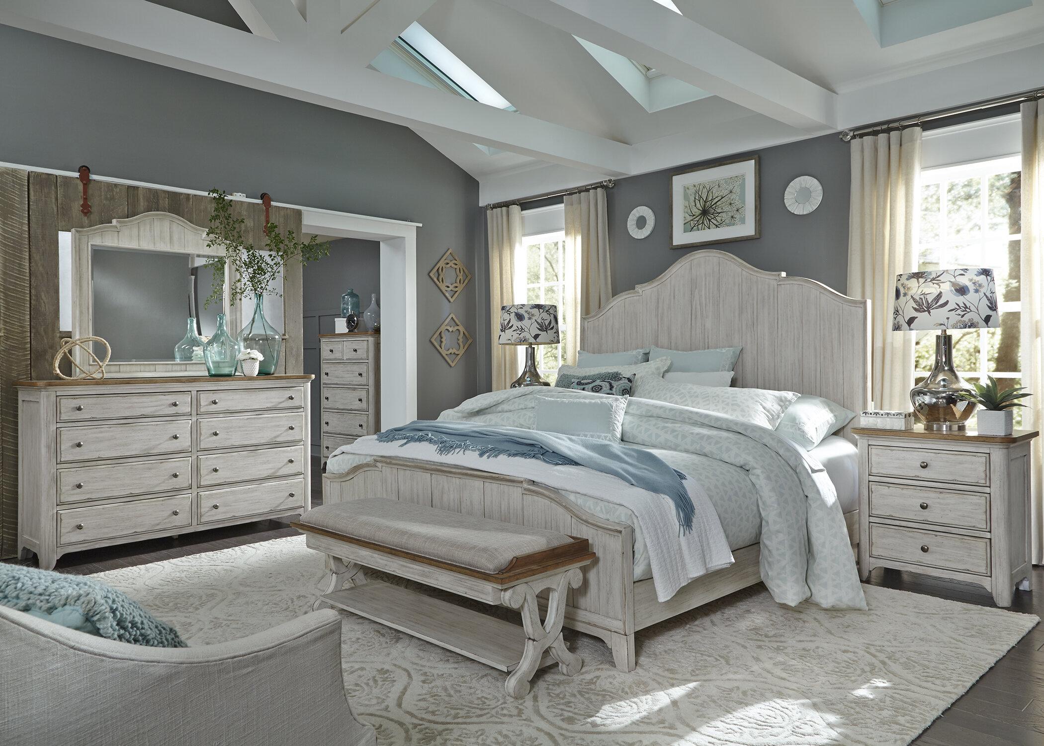 Dalewood Whitewashed Panel Bedroom Set