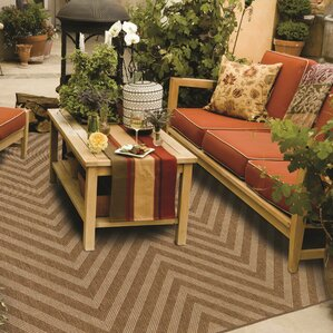 Stowe Chevron Tan Indoor/Outdoor Area Rug