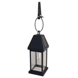 Solar outdoor hanging lanterns wayfair yingling solar 1 light outdoor hanging lantern aloadofball Gallery