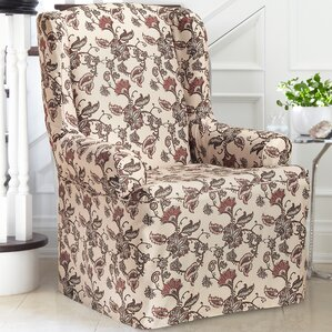 T-Cushion Wingback Slipcover by CoverWorks