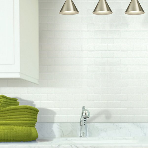 "Smart Tiles Prince 1.5"" X 3"" Peel & Stick Subway Tile In"
