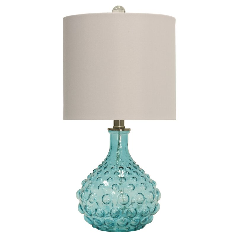 Highland Dunes O Shaughnessy Bubble Glass 20 Quot Table Lamp