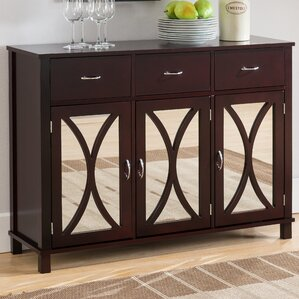 Sidell Wood Door And Drawer Console Table