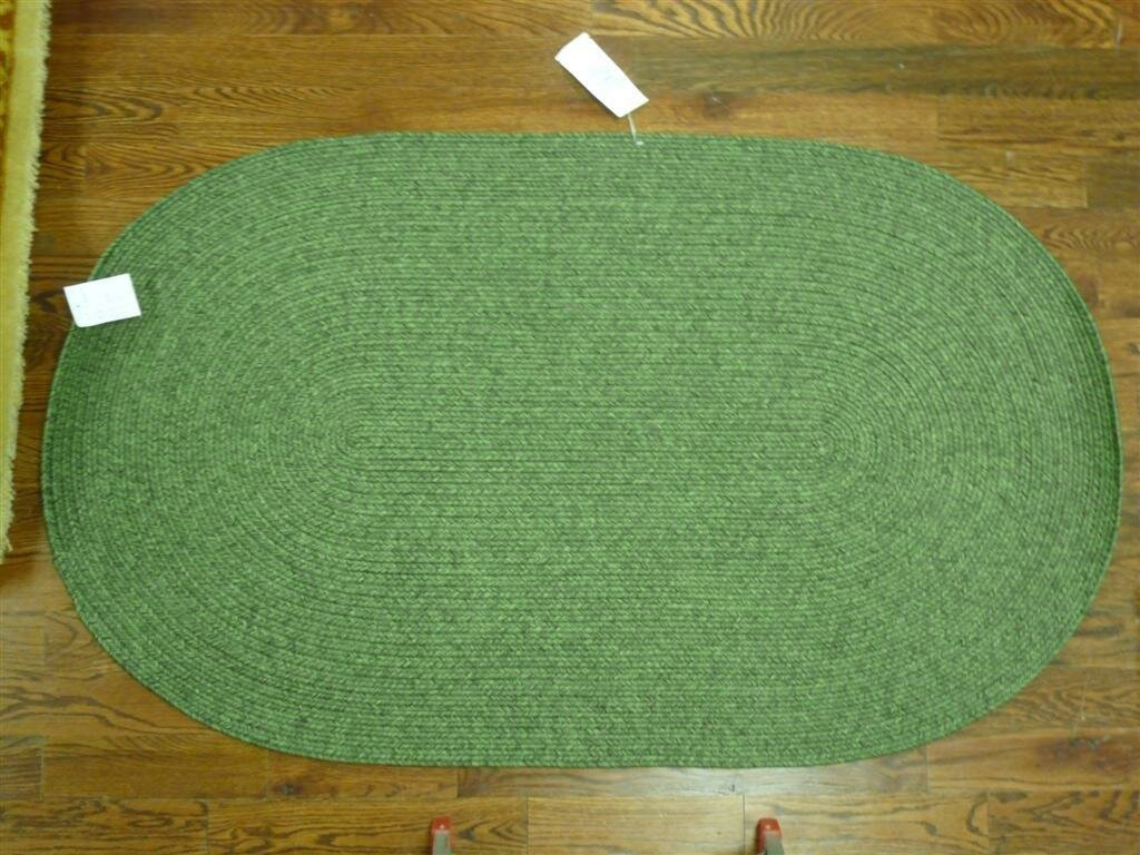 Beachcrest Home Lissie Hand Woven Moss Green Area Rug