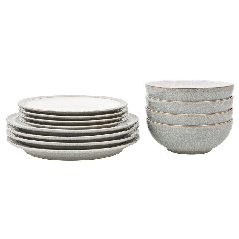 dark bamboo plates dinnerware sets wayfaircouk