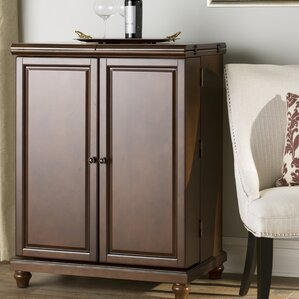 Beautiful Goreville Bar Cabinet With Wine Storage
