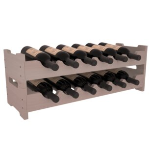 Rayle Redwood Mini Scalloped 12 Bottle Tabletop Wine Rack