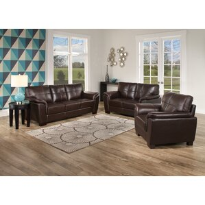 leather living room sets youll love wayfair - Living Room Sets Leather