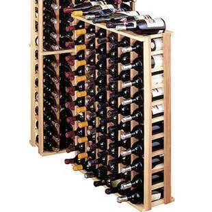 Premium Redwood 66 Bottle Floor Wine Rack
