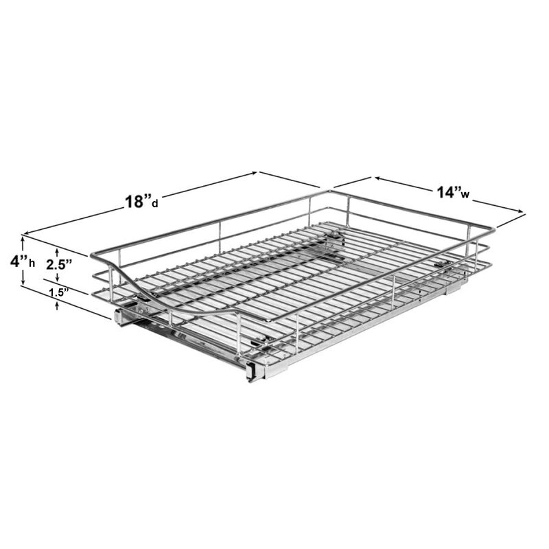 Pull Out Drawer Kitchen Cabinet Specs: Lynk Roll Out Cabinet Organizer
