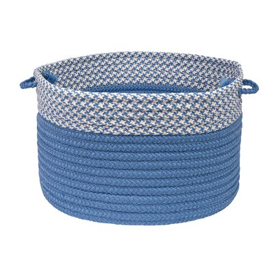 Brayden Studio Ariadne Dipped Basket Size: 14 H x 24 W x 24 D, Color: Blue Ice