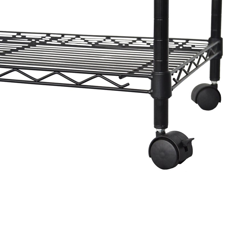 Excel Multi-Purpose 3-Tier Wire Shelving Unit with Casters, 24 In. X ...