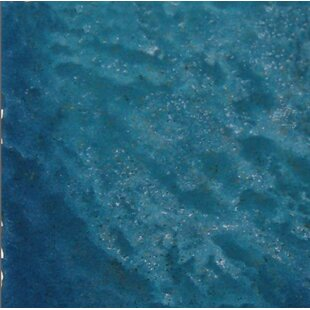 Seabreeze 6 X Porcelain Field Tile In Teal