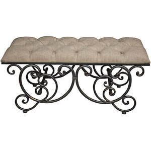 Ornate Upholstered Bedroom Bench