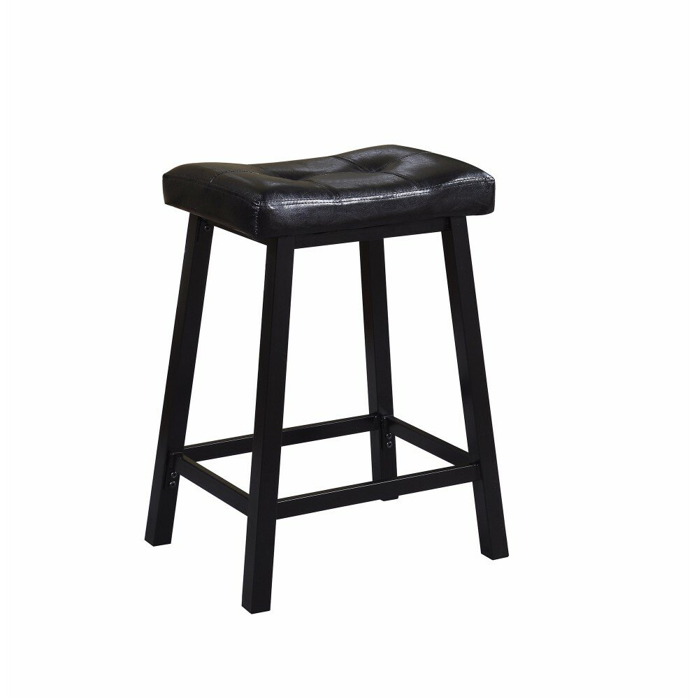 Winston Porter Lahey Upholstered Tufted Backless 24 Counter Height Bar Stool Wayfair