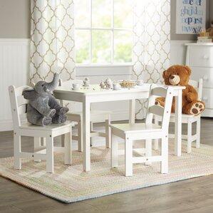 Attractive Rickey Kids 5 Piece Table U0026 Chair Set