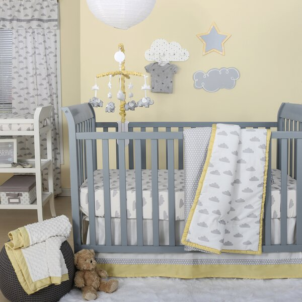 The Peanut Shell Dot A Lot Cloud 4 Piece Crib Bedding Set Reviews Wayfair Ca