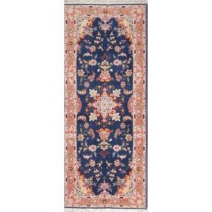 Vennie Blue Fl Tabriz Persian Style Area Rug 6 7 X 2 8