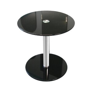 Round Modern Glass End Table by Fab Glass an..