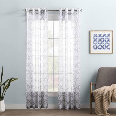 wayfair window treatments grommet curtains wayfair basics geometric sheer grommet single curtain panel basics solid room darkening