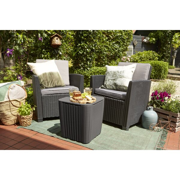 Highland Dunes Berrios Balcony 3 Piece Bistro Set With Cushions Reviews Wayfair