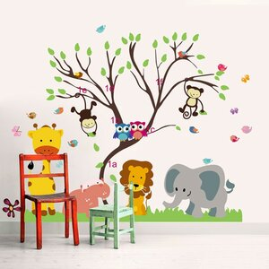 Monkey Animal Forest Tree Wall Sticker