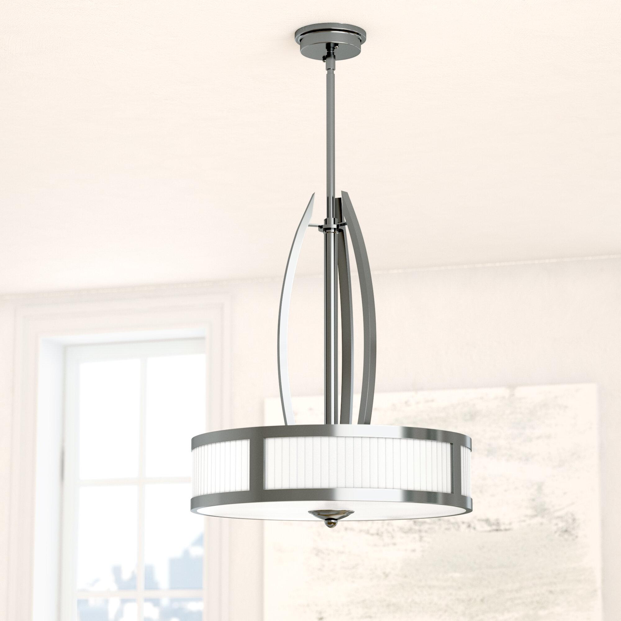 Hinkley lighting maurice 3 light drum chandelier wayfair