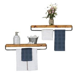 Ayala True Floating Wall Shelf (Set of 2)