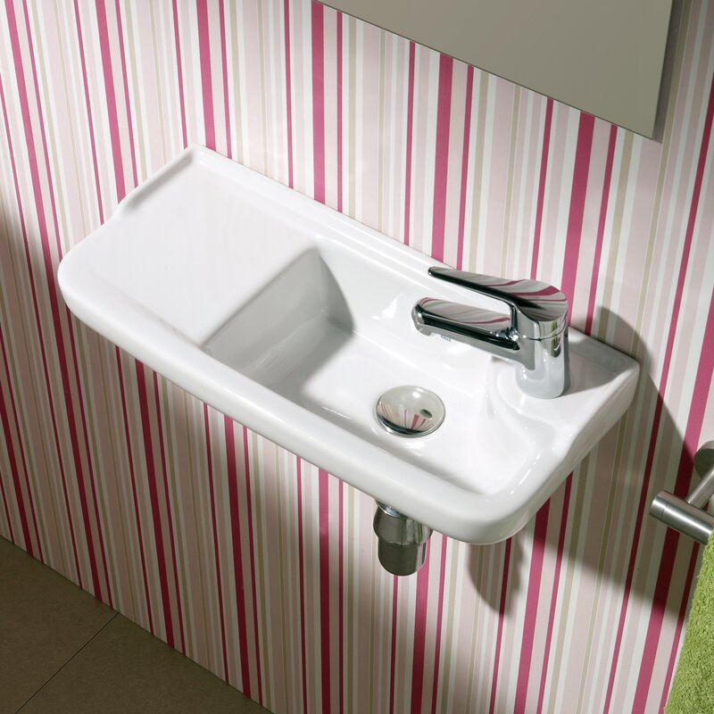 "Bathroom Sinks That Mount On The Wall bissonnet universal oxigen ceramic 20"" wall mounted bathroom sink"