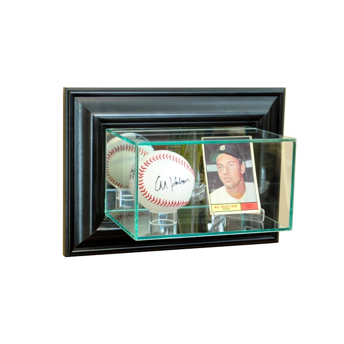 Wall Mounted Card And Baseball Display Case