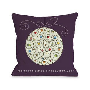 holiday large ball ornament throw pillow - Large Christmas Ball Ornaments