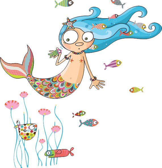 Ludo The Mermaid Wall Decal Part 60