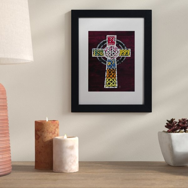 Bloomsbury Market \'Celtic Cross\' Vertical Framed Graphic Art | Wayfair