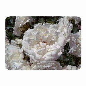 Flores Blancas by Julia Grifol Memory Foam Bath Mat