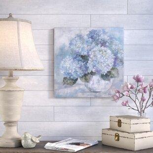 Hydrangea Painting Print On Canvas