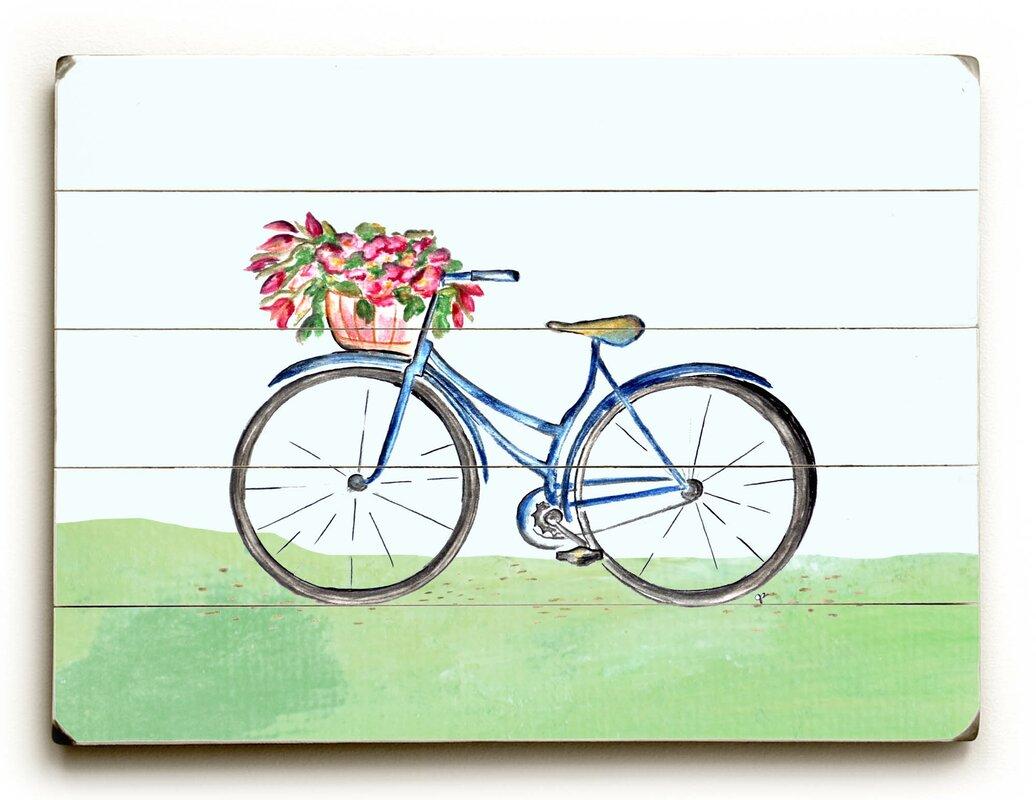 U0027Spring Bicycleu0027 Wall Art Plaque. U0027
