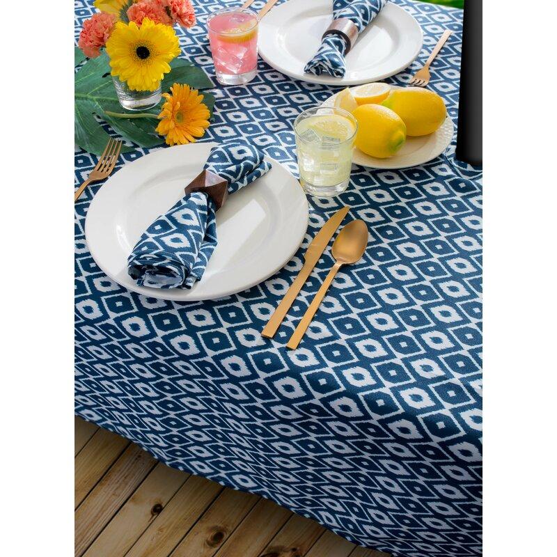 1b56f67b7546 Bungalow Rose Broussard Ikat Outdoor Tablecloth