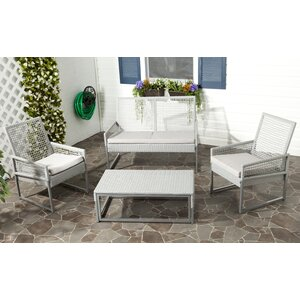 Lilly 4 Piece Sofa Set with Cushions