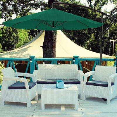 Breakwater Bay Vassalboro 10' Cantilever Umbrella Fabric Color: Hunter Green