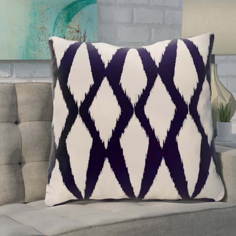 Ivy Bronx Blasingame Geometric Decorative Outdoor Pillow Reviews Amazing Decorative Outdoor Pillows On Sale