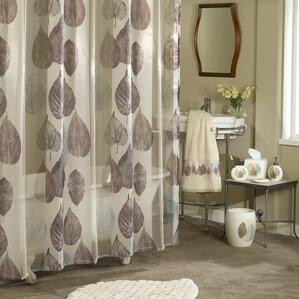 brown waffle shower curtain. Manalapan Gossamer Leaf Shower Curtain Brown Curtains You ll Love  Wayfair