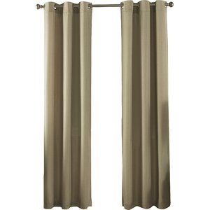 Solid Semi-Sheer Thermal Grommet Curtain Panels (Set of 2)